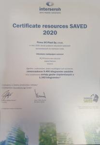 Certificate Resources Saved 2020
